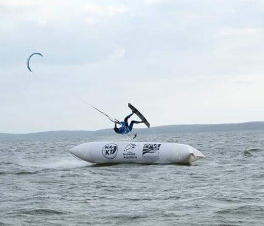 Photo Kitesurf boarder cross